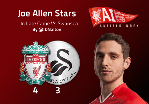 Joe Allen Vs Swansea