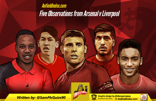 Arsenal Liverpool Observations