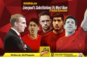 Liverpool's Subs v WHU