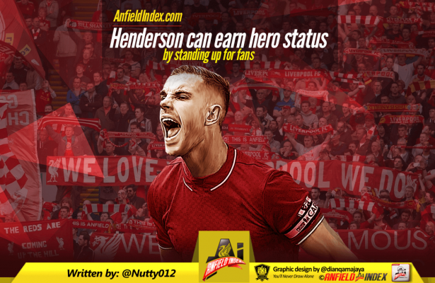 Henderson can earn hero status by standing up for fans