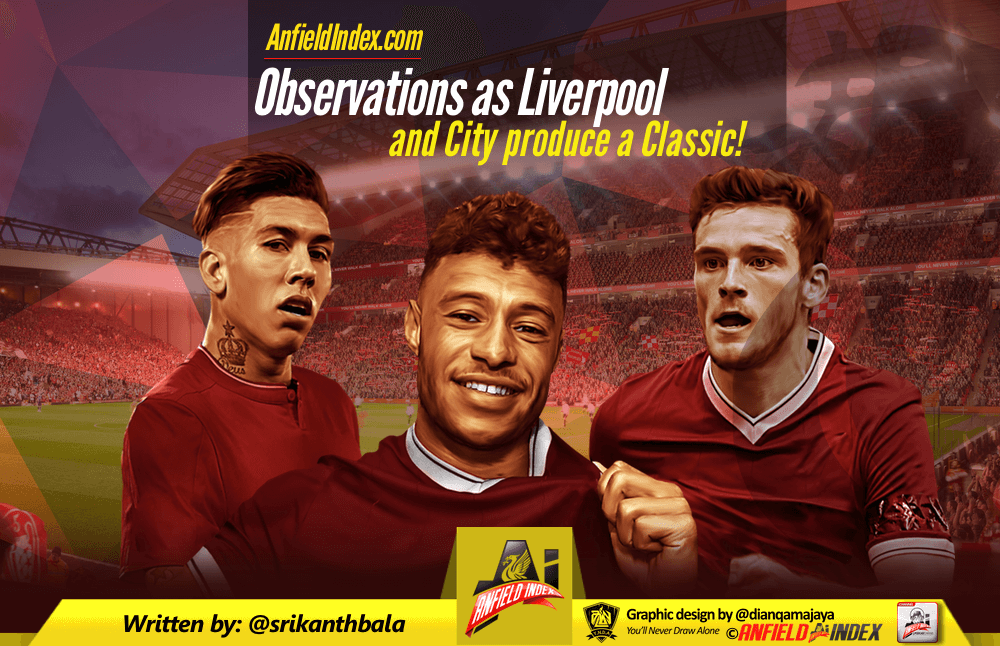 Observations as Liverpool and City produce a Classic!