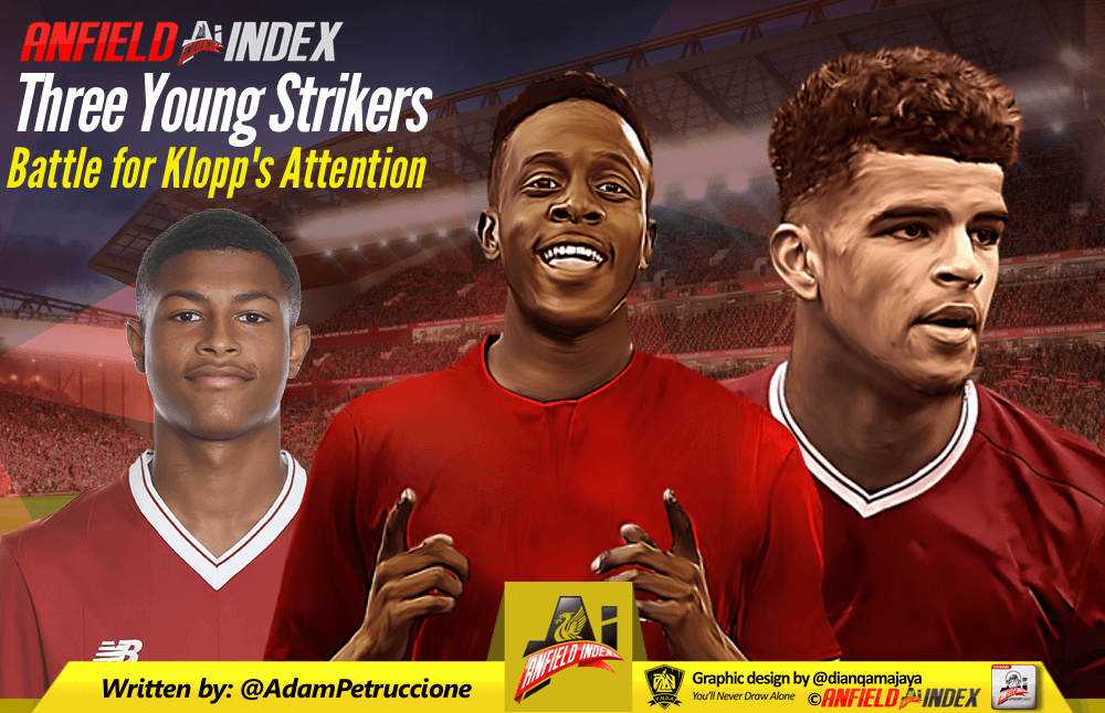 Three Young Strikers Battle for Klopp's Attention