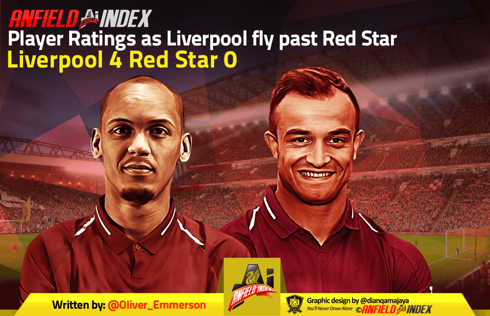 Player Ratings as Liverpool fly past Red Star