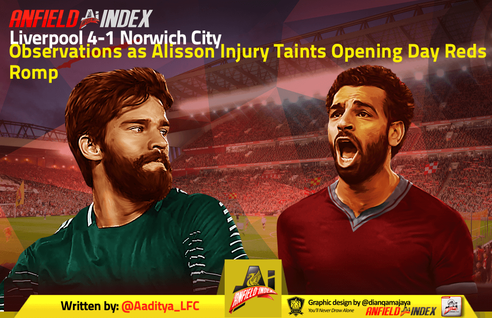 Liverpool 4-1 Norwich City - Observations as Alisson Injury Taints